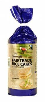 Sherriffs Fairtrade Rice Cakes Slightly Salted (6X 100G)