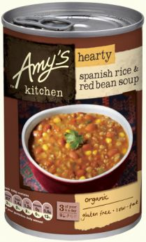 Amy's Kitchen Organic Hearty Spanish Rice and Red Bean Soup 416g x6