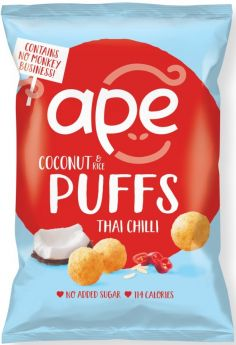 Ape Snacks Thai Chilli Coconut and Rice Puffs 25g x24