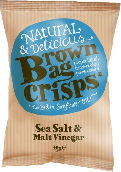 Brown Bag Crisps Oak Smoked Chilli 40g x20