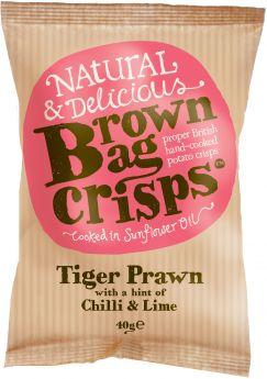 Brown Bag Crisps - Lightly Salted 40g x20
