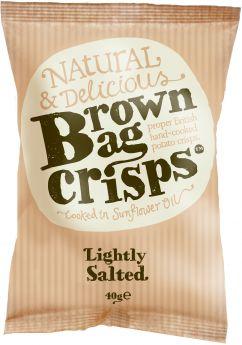 Brown Bag Crisps Lightly Salted 150g x10
