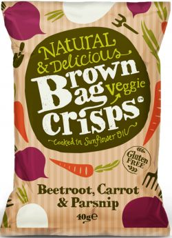 Brown Bag Crisps - Tiger Prawn with hint of Chilli & Lime 40g x20