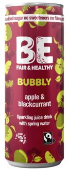 Be Bubbly Apple and Blackcurrant Drink 250ml x24