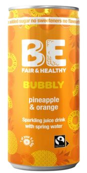 Be Bubbly Pineapple and Orange Drink 250ml x24