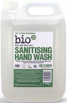 Bio-D Lime and Aloe Vera Sanitising Hand Wash 500ml x6