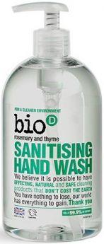 Bio-D Geranium Sanitising Hand Wash 5L x4