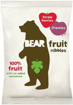 Bear Strawberries and Cherries Fruit Nibbles 30g x12