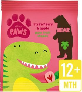 Bear Pure Fruit Strawberry and Apple Dino Paws 20g x18