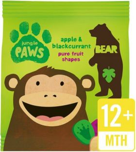 Bear Pure Fruit Apple and Blackcurrant Jungle Paws 20g x18
