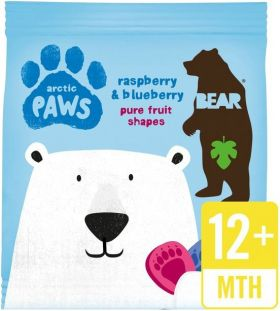 Bear Pure Fruit Raspberry and Blueberry Arctic Paws 20g x18