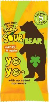 Promo Bear Pure Fruit & Veg Mango and Apple Super Sour Yoyos 20g x18