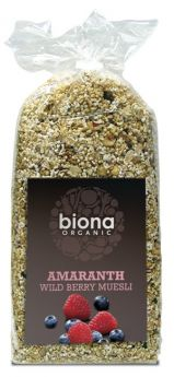 **Biona Organic Amaranth Wild Berry fruit Muesli 500g x6