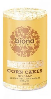 Biona Org Corn Cakes no salt 100% Corn Wholegrain 110g x12