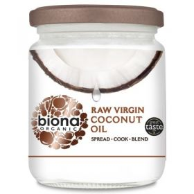 Biona Organic Virgin Coconut Oil - Raw 200g x6