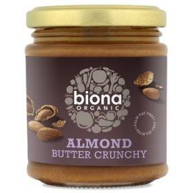Biona Organic Almond Butter - Crunchy 170g x6