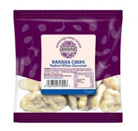 Biona Organic Plain Chocolate covered Hazelnuts 70g x12