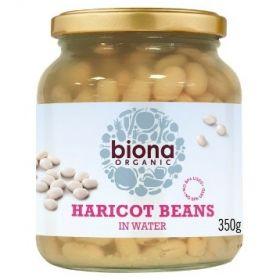 Biona Haricot Beans in Jar Organic 6x350g