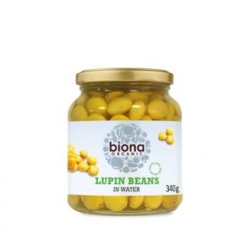 Biona Lupin  Beans Organic -in Glass jars 6x340g