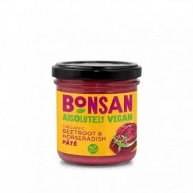 Bonsan Organic Beetroot & Horseradish Pate - Vegan 130gx6
