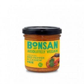 Bonsan Organic Cashew Bell Pepper Pate - Vegan 130gx6
