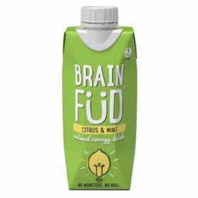 Brain Fud- Natural Energy Drink- Citrus & Mint 12x330ml