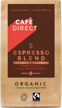 Cafedirect ORG & FT Espresso Blend Whole Beans 227g x6