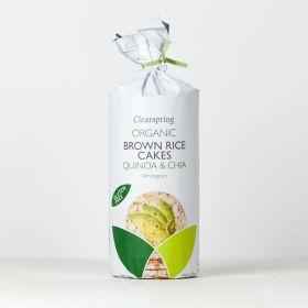 Clearspring Organic Brown Rice Cakes - Quinoa & Chia 6 x120g