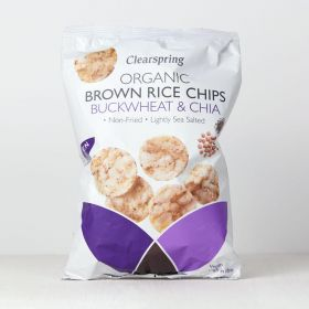 Clearspring Organic Brown Rice Chips - Buckwheat & Chia 6 x80g
