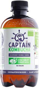 Captain Kombucha California Raspberry Bio-Organic Bubbly Drink 400ml x8