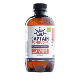 Captain Kombucha Cayenne Pepper Bio-Organic Bubbly Drink 400ml x8