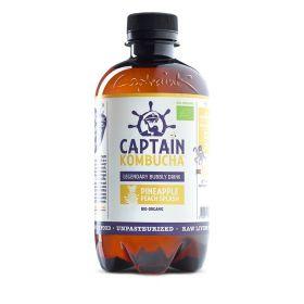 Captain Kombucha Pineapple Peach Splash Bio-Organic Bubbly Drink 400ml x8