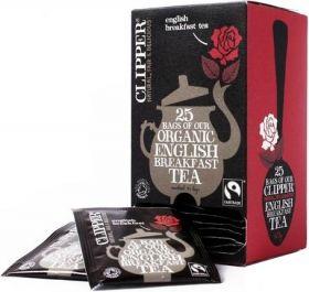 Clipper Fair Trade Organic English Breakfast Envelope S&T Teabags (6x25's)