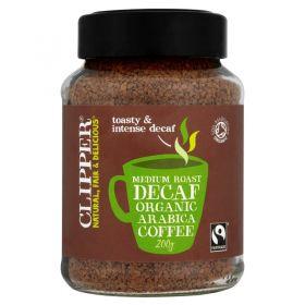 Clipper Tea Med Roast Coffee FD 200g