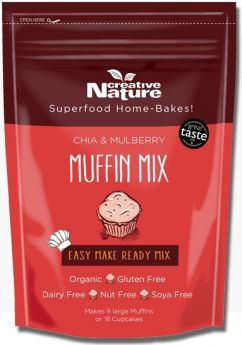 Creative Nature Chia and Mulberry Muffin Mix 400g x6