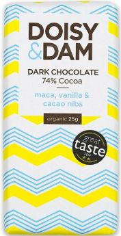 Doisy & Dam Organic Goji & Orange 74% Dark Chocolate 25g x30