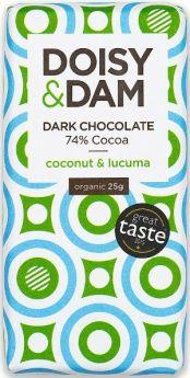 Doisy & Dam Organic Maca, Vanilla and Cacao Nibs 74% Dark Chocolate 25g x30