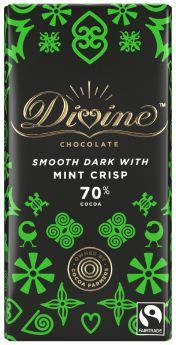 Divine Fair Trade Dark Mint Chocolate 100g x15