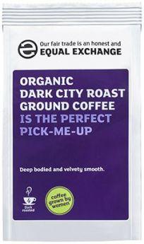 Equal Exchange Organic Dark City Roast & Ground Coffee 227g x8