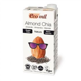 Ecomil Almond Chia Milk Sugar-Free 1L x6