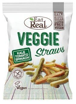 Eat Real Kale, Tomato, Spinach and Potato Veggie Straws 45g x12