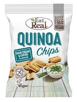 Eat Real Sour Cream and Chive Quinoa Chips 30g x12