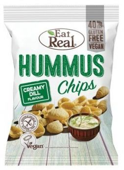 Eat Real Creamy Dill Hummus Chips 135g x10