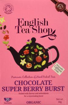 English Tea Shop Organic Chocolate Super Berry Burst Tea 30g (20's) x6