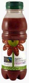 Fruit Hit Fair Trade Apple & Blackcurrant Smoothie (6x330ml)