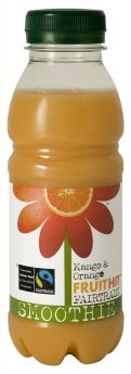 Fruit Hit Fair Trade Mango & Orange Smoothie (6x330ml)