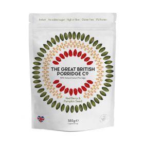 The Great British Red Berry & Pumpkin Seed porridge 385g x4