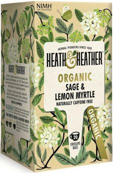 Heath & Heather Organic Root Remedy - Turmeric, Ginger and Galangal Enveloped Tea Bags 30g (20's) x6