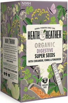 Heath & Heather Slim Tea - Green Mate and Psyllium Enveloped Tea Bags 30g (20's) x6