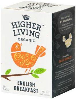 Higher Living Organic Classic String-Tag & Enveloped Earl Grey Tea 45g (20's) x4